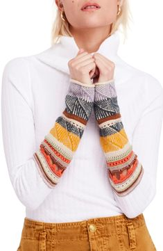 b25710afb5811 Free shipping and returns on Free People Mixed-Up Cuff Sweater at  Nordstrom.com
