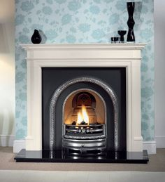 brompton agean limestone fireplace package with sovereign tiled