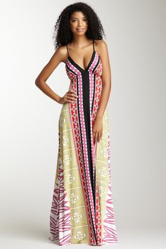 Analili Sleeveless Printed Maxi Dress <3 I seriously know this model! shes very cool/sweet. haha.
