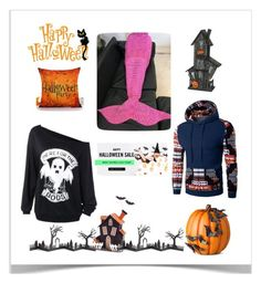 """Dresslily Halloween giveaway"" by tea-love ❤ liked on Polyvore featuring Melrose International, Crate and Barrel, Improvements and Sullivans"