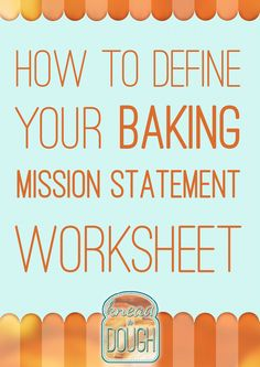 Are you struggling to find what makes your cake business or baking blog different? Use this easy worksheet to nail your ideal customer or audience, find your niche, and nail your baking mission statement! Click the link and supercharge your baking business today! Knead to Dough