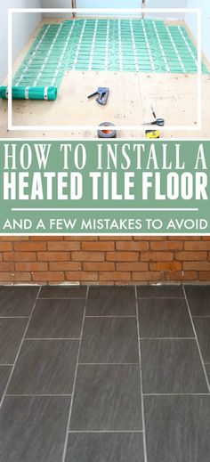 Some tips about our favourite easy-to-install heated flooring system and a few mistakes we made the last time that we installed a different type of heated flooring.