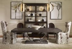 Contemporary dining room featuring the new Omni Collection dining room table from Century Furniture. Large Furniture, Upholstered Furniture, Quality Furniture, Accent Furniture, Dining Room Furniture, Dining Room Table, Beautiful Dining Rooms, Classic Interior, Home Decor
