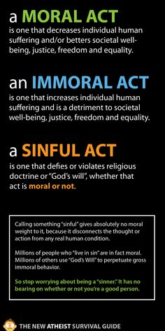 I get asked this all the time... If I'm an atheist how can I do good and still be a moral person.... Drives me nuts!
