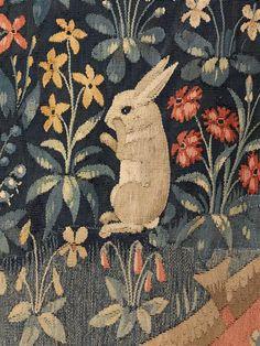 """Tenture de """"La Dame à la Licorne"""": le Goût. Musée de Cluny - musée national du Moyen-Age."""