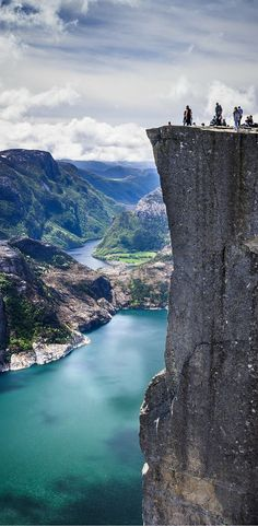 Pulpit Rock perched on top of a jutting 600m-tall (1969 ft) cliff. Click through to see 20 more photos that will inspire you to travel to Norway!