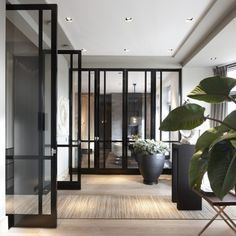 Room with Bod'or KTM doors - Design by Marcel Wolterinck - Residential - Doors: Le Cadre - Double Doors Interior Trim, Interior Styling, Interior And Exterior, Interior Doors, Door Design, Exterior Design, House Design, Window Design, Beautiful Home Gardens