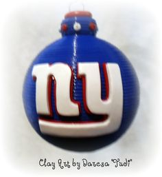 NYG ornament this would be on my Christmas tree
