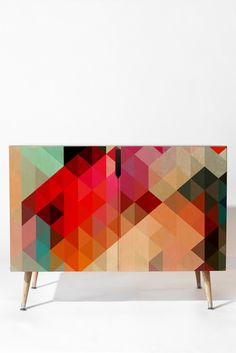 Three Of The Possessed Words Heavy 1 Credenza | DENY Designs Home Accessories