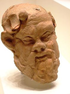 Head of a Satyr Greek made in Asia Minor about 200 BCE Terracotta |