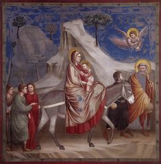 Scenes from the Life of Christ: Flight into Egypt / La Huida a Egipto // 1304-1306 // Giotto di Bondone // Fresco / Cappella Scrovegni (Arena Chapel), Padua