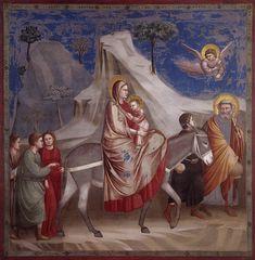 Fuga in Egitto, 1303-1305, Cappella degli Scrovegni, Padova / Giotto di Bondone (Vespignano, 1267 circa – Firenze, 1337)