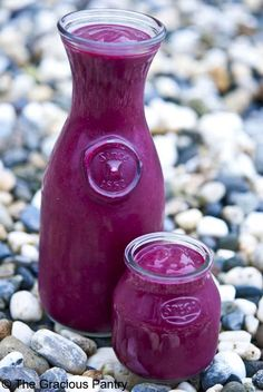 Clean Eating Cherry Beet Smoothie ~made with coconut milk and banana