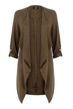 Khaki Waterfall Jacket Waterfall Jacket, Coats For Women, Clothes For Women, Parka Coat, How To Look Classy, Winter Wardrobe, Everyday Fashion, Duster Coat, Fashion Dresses