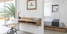 One of our favorite space-saving tricks for a small apartment is the wall-mounted desk. Here are some of our favorites that are stylish storage solutions and functional workspaces.
