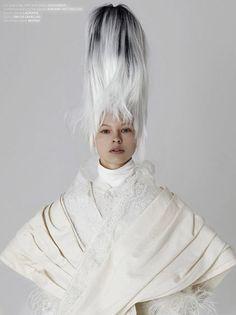 king-kong magazine april 2017 photo david dunan make up tiziana raimondo model iris landstra hair nicolas jurnjack