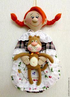 Купить Пакетница девочка - кухня, оригинальный подарок, подарок женщине, украшение для кухни, уютная кухня