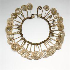 Necklace |  Alexander Calder.  Brass