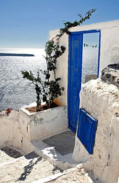 "#Santorini, #Greece , Santorini Greece  ""Door to Heaven"""
