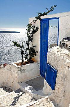 Santorini, Greece , Santorini Greece is my door to Heaven it is so Beautiful and breathtaking I can't wait to I go.