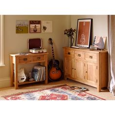 Lyon Petite Oak 2 Drawer Console Table (P381) with Free Delivery | The Cotswold Company