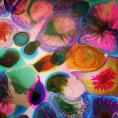 """Underwater Flowers,"" Resin and alcohol ink on a Wooden Board.  art🎨  #resin #painting #resinista #resinart #contemporaryart #walldecors #walldecor #walldesign  #creative #creativeart #creativity #myart #fluidpainting #instaartwork #instaart #instaarts #fluidartist #mixedmedia #artpalooza #instaartist #fineart #abstractart #artlovers #artstagram #alcoholink #elichem #elichemresins #dotart"
