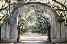 Wormsloe Plantation in Savannah, Georgia is a historic site with a 1.5 mile oak-lined drive to the old estate.