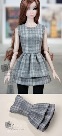 Clear lan   dresses for doll   Momoko clothes   Nippon Misaki clothes  Blythe clothes  Lati-Yellow clothes  doll clothes   clearlan