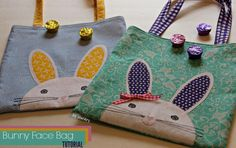 Bunny Face Bag free Sewing Pattern