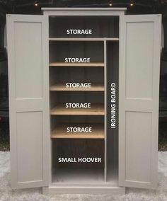 Shoe Storage Cupboard, Ironing Board Storage, Laundry Cupboard, Hall Cupboard, Utility Cupboard, Coat Storage, Utility Closet, Linen Cupboard, Kitchen Storage