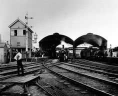 The old Flinders Street Railway Station, circa 1885. The clock above it is now on display at Southern Cross Station.