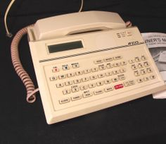 Alphanumeric Telephone Vintage Colonial Data 1985 CDT Model AP2001 Name Dialing #Clarity