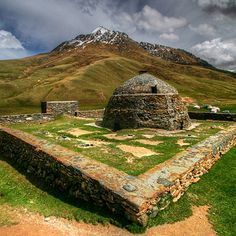 Tash Rabat is a well-preserved 15th century stone caravanserai in At Bashy district, Naryn Province, Kyrgyzstan. The area is a center for hiking and horse-trekking.