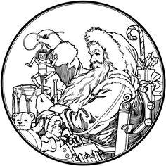 Santa Claus Coloring Pages 4 | Free Patterns | Yarn