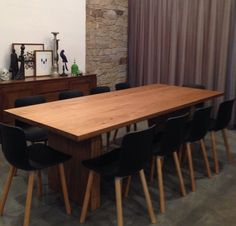 Custom made dining table by me.
