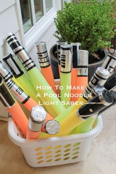 DIY Star Wars Light Saber Pool Noodle Tutorial