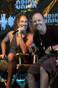 Kirk Hammett and Lars Ulrich Orion Music + More Press Conference
