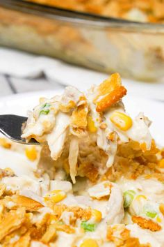 Ritz Chicken Casserole - This is Not Diet Food