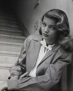 Lauren Bacall...love her. Great actress  gorgeous..classy
