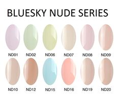 ♥ Bluesky NUDE Series UV/LED Soak Off Gel Manicure Pedicure Nail Polish 10ml ♥