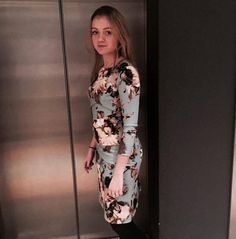 Tessa Koops collection 2016  INTERN Lize : - the CHANTAL AZALEA DRESS  #tessakoops #coat #fashion #fallwinter #amsterdam #wfc #worldfashioncenter #intern #winter