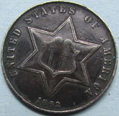 Choice 1862 3 Cent Silver Coin - Civil War from riggsbyscorner, $225.00