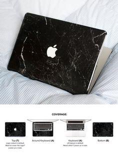New Black Marble MacBook Skin