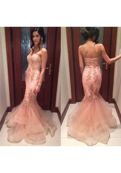 Pink Prom Dresses,Tulle Prom Dress,Sexy Prom Dress,Mermaid Prom Dresses,Formal Gown,Lace Evening Gowns,Elegant Party Dress,Long Prom Gown For Senior Teens