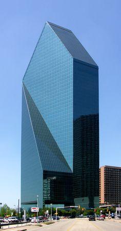 Fountain Place , Dalas-Texas-USA; 219.5 m 62 fl; completion 1986