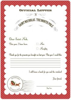 FF Letter to Santa Serendipty Soiree