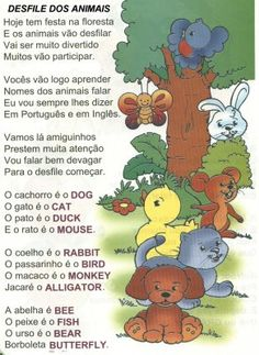 EDUCACRER: Atividades de Inglês (Animals) Kids English, Learn English, English Activities For Kids, Halloween Worksheets, English Course, Professor, Winnie The Pooh, Kindergarten, Homeschool