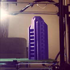 "Something we liked from Instagram! Done 3D printing this 10"" tower made on the Eleven! #3dprinting #3dprinter #design #art #architecture #3dprint #startup #entrepreneur #business #3dmodeling #building #city #3D #tech #3dprinted #fintech #kickstarter #crowdfunding #3dmodel #eleven #isg11 #marketing #DIY #opensource by isg3d check us out: http://bit.ly/1KyLetq"