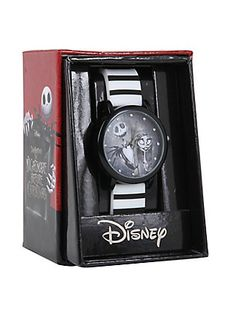 The Nightmare Before Christmas Jack & Sally Stripe Watch, , hi-res