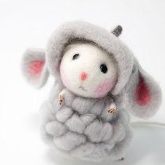 Needle Felted Felting Animals Cute Kawaii Mouse Sheep